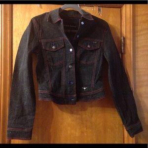 NWT Sergio Valente Ladies Black Jean Jacket Sz Med
